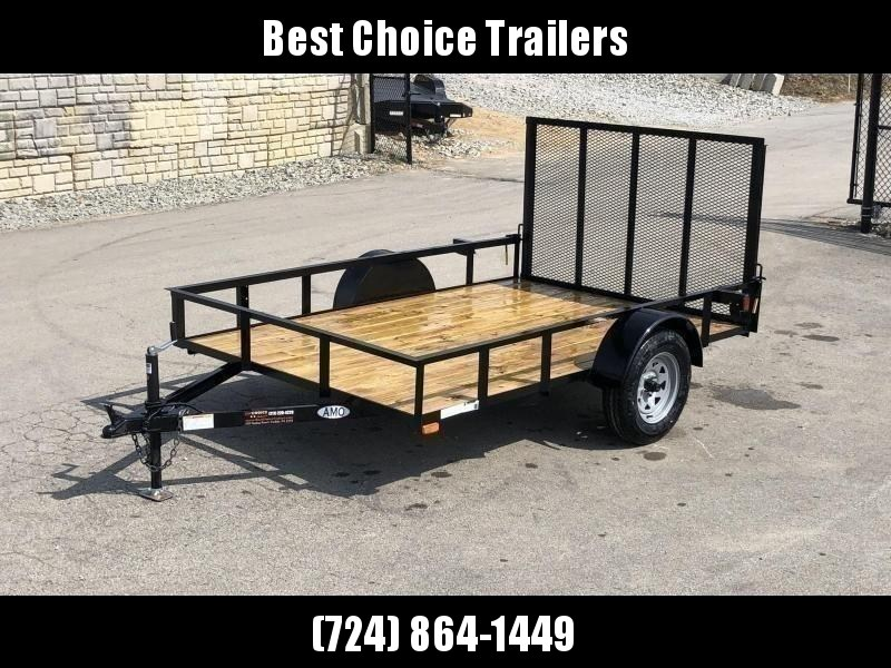 "2021 AMO 78x12' Utility Landscape Trailer 2990# GVW * 4' GATE * TOOLESS GATE REMOVAL * 3500# AXLE * 15"" RADIAL TIRES"