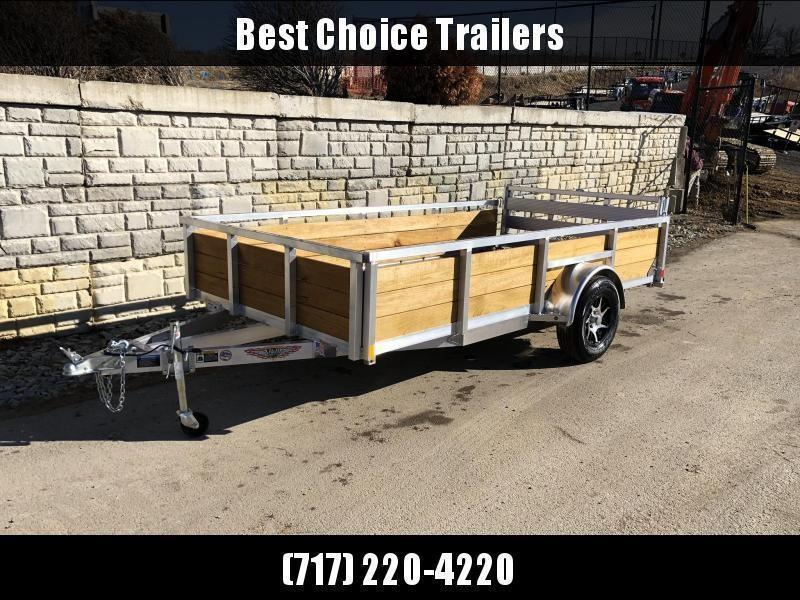 "2020 Sure Trac 6x12' Aluminum Wood High Side Utility Landscape Trailer 2990# GVW * 2' HIGH SIDES * BI FOLD GATE * ALUMINUM WHEELS * TUBE TOP * TRIPLE TUBE TONGUE * TUBE TONGUE * SWIVEL JACKS * STAKE POCKETS * EXTENDED 54"" GATE"