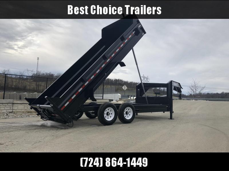 2020 Sure-Trac 7x16' 16000# Low Profile HD GOOSENECK Dump Trailer * TELESCOPIC HOIST * 8000# AXLE UPGRADE * TARP KIT
