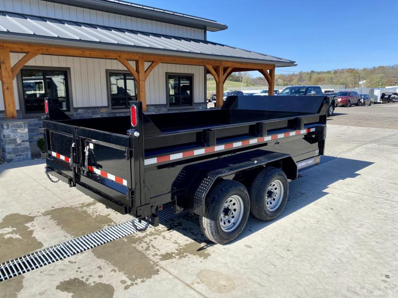 "2021 Sure-Trac 7x12' Dump Trailer 9900# GVW * DUAL PISTON * 2' SIDES * UNDERMOUNT RAMPS * COMBO GATE * 7K DROP LEG JACK * FRONT/REAR BULKHEAD * INTEGRATED KEYWAY * SPARE MOUNT * DOUBLE BROKE FENDERS * 4"" TUBE BEDFRAME * TRIPLE TUBE TONGUE * CLEARANCE"