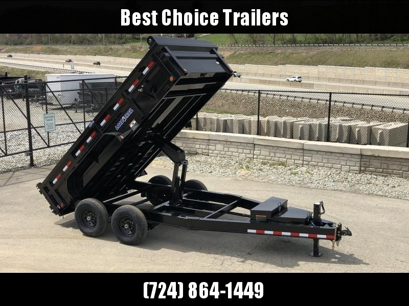 "2020 Load Trail 7x14' Dump Trailer 14000# GVW * DH8314072 * 7 GAUGE FLOOR * EXTRA 2-TIER TOOLBOX * EXTENDED TONGUE * MAX RAIL * 8"" I-BEAM FRAME * 12K JACK * 3-WAY GATE * TARP KIT * SCISSOR HOIST * 6"" TUBE BED FRAME * CLEARANCE"