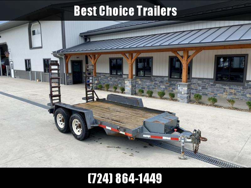USED Viking Spirit 7x12' Equipment Trailer 12000# GVW * STAND UP RAMPS * TOOLBOX * ADJUSTABLE PINTLE COUPLER * SWIVEL JACK * D-RINGS/STAKE POCKETS * LOW DECK HEIGHT