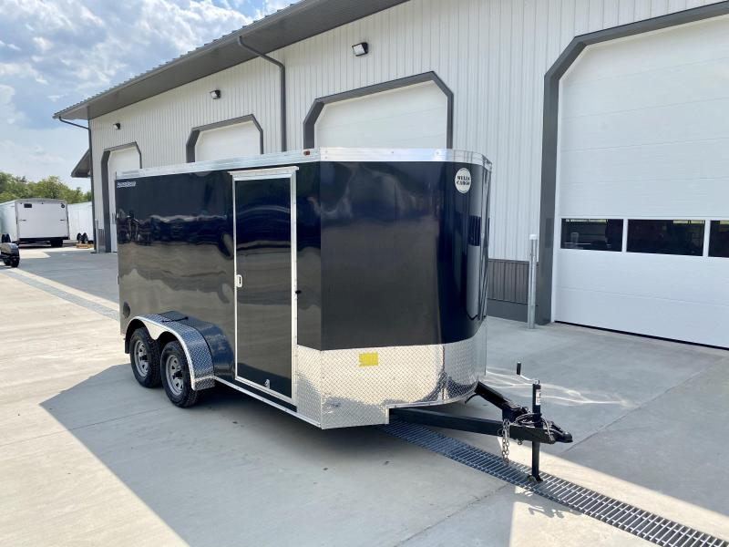 "2020 Wells Cargo 7x14' Enclosed Motorcycle Trailer 7000# GVW * BLACK EXTERIOR * 6'6"" INTERIOR HEIGHT * D-RINGS * SCREWLESS * STABILIZER JACKS * WHEEL CHOCK * TRANSITION PLATE * RAMP DOOR * RV DOOR"
