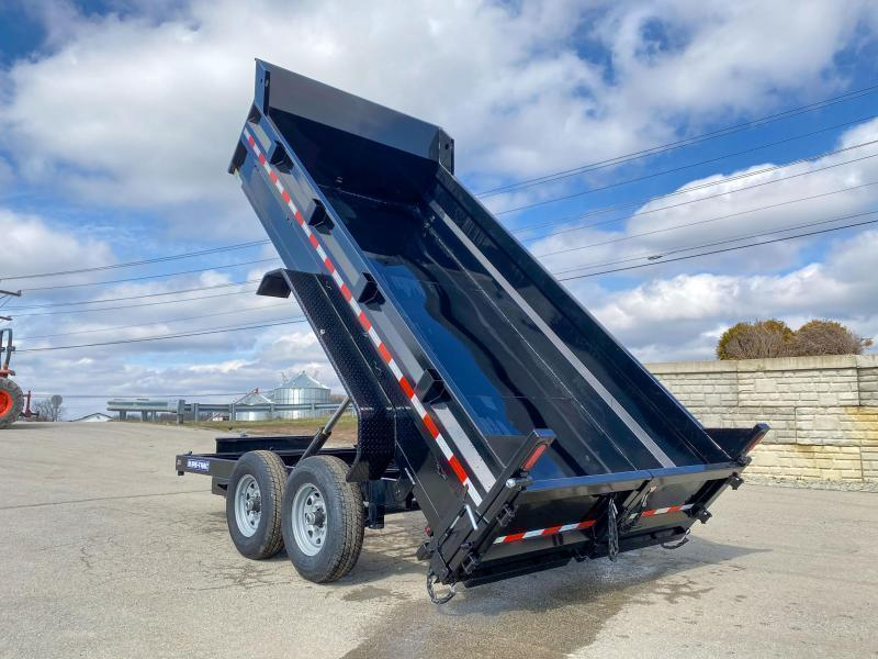 2021 Sure-Trac 7x14' Dump Trailer 14000# GVW * DELUXE TARP KIT * DUAL PISTON * FRONT/REAR BULKHEAD * INTEGRATED KEYWAY * 2' SIDES * UNDERBODY TOOL TRAY * ADJUSTABLE COUPLER * 110V CHARGER * UNDERMOUNT RAMPS * COMBO GATE