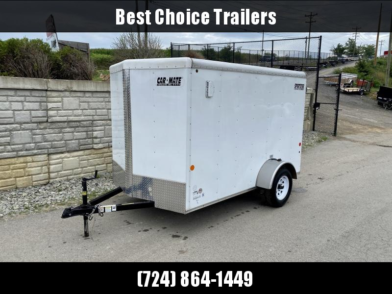 USED 2015 Car Mate Trailers 6x10' Enclosed Cargo Trailer 2990# GVW * E-TRACK * CABINET * LED CARGO LIGHT