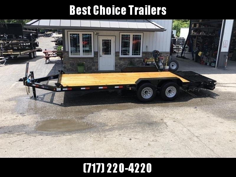 2020 Ironbull 7x20' Equipment Trailer 14000# GVW * STAND UP RAMPS * I-BEAM FRAME * CHAIN TRAY * D-RINGS * REMOVABLE FENDERS * CLEARANCE