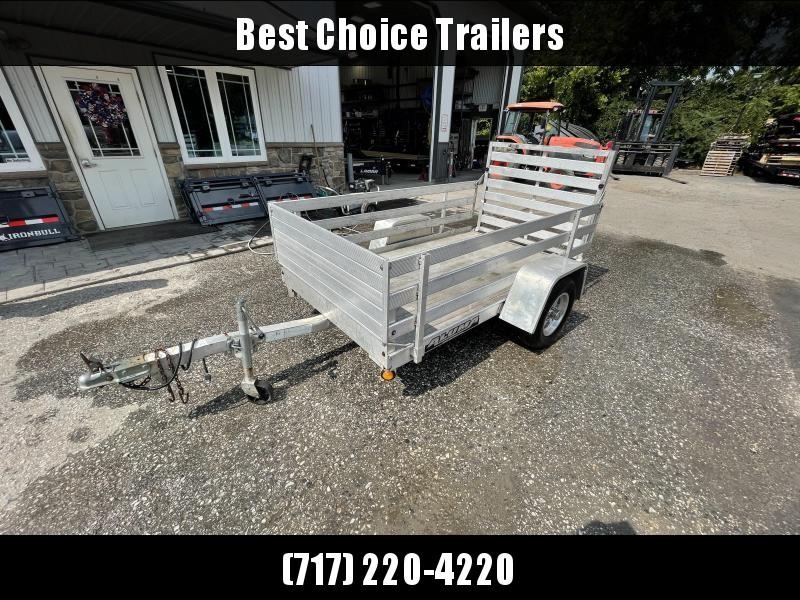 USED 2010 Aluma All-Aluminum Utility Landscape Trailer * TORSION * EXTRUDED FLOOR * SIDE KIT * ALUMINUM WHEELS