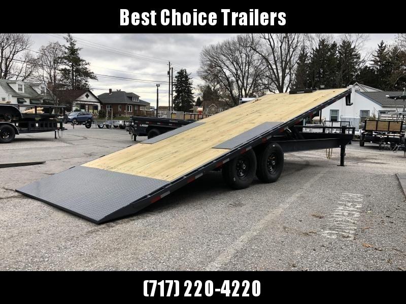 2020 Lamar 102x24' Power Tilt Deckover Trailer 14000# GVW * SCISSOR HOIST * SIDE & FRONT TOOLBOXES * 14-PLY RUBBER * SPARE TIRE * WINCH PLATE * HD BED FRAME