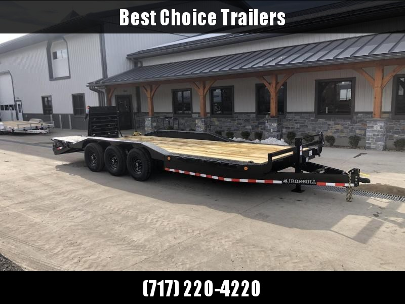 "2021 Ironbull 102x24' Equipment Trailer 21000# GVW * TRIPLE AXLE * FULL WIDTH RAMPS * 102"" DECK * DRIVE OVER FENDERS * 8"" FRAME UPGRADE * ALUMINUM WHEELS"