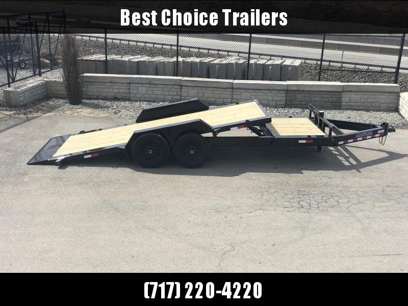 "2020 Load Trail 7x18' Gravity Tilt Equipment Trailer 14000# GVW * 16+2' SPLIT DECK * REMOVABLE FENDERS * 8"" I-BEAM MONOFRAME * DEXTER TORSION AXLES * GRAVITY TILT W/ STOP VALVE * TOOL TRAY * 2-3-2 WARRANTY * POWDER PRIMER * 12K JACK"