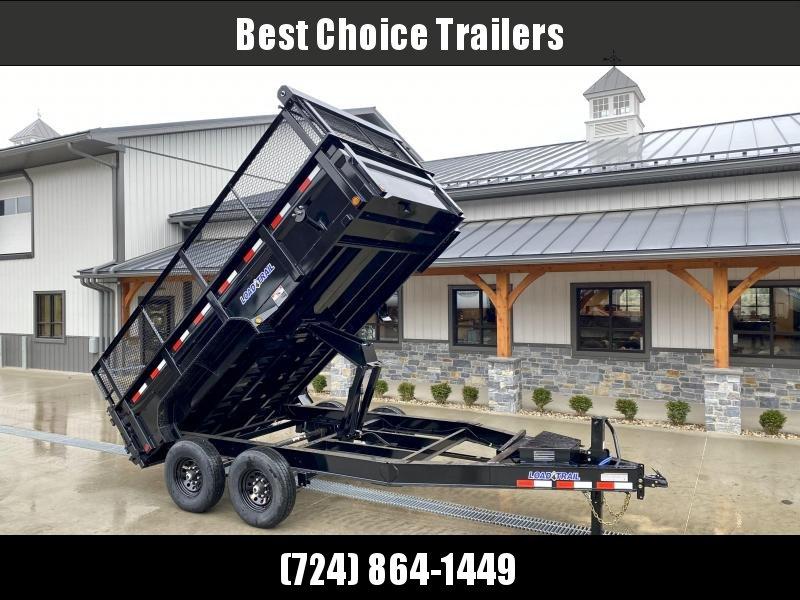 """2021 Load Trail 7x14' High Side Dump Trailer 14000# GVW * 12K JACK * 3-WAY GATE * 8"""" I-BEAM FRAME * TARP KIT * SCISSOR HOIST * 6"""" TUBE BED FRAME * 110V CHARGER * ADJUSTABLE COUPLER * 10GA 2PC SIDES/FLOOR * INTEGRATED KEYWAY * 24"""" MESH HIGH SIDE EXTENSIONS"""