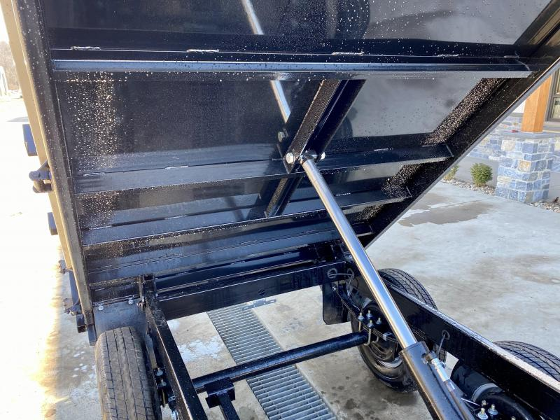 "2021 Sure Trac 6x10' Custom Deckover Dump Trailer 9900# GVW * 20"" FOLD DOWN SIDES * BARN DOORS * ADJUSTABLE COUPLER * DROP LEG JACK * 4"" TUBE BED FRAME * INTEGRATED KEYWAY * TARP PREP * D-RINGS * TRIPLE TUBE TONGUE * POWDERCOATED * SEALED HARNESS"