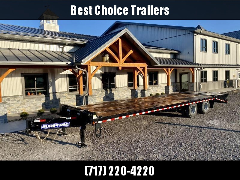 2020 Sure-Trac 102x30' HD Beavertail Deckover Trailer 22500# GVW * PAVER SPECIAL * FULL WIDTH RAMPS * OAK BEAVERTAIL/DECK/RAMPS * DEXTER AXLES * MUD FLAPS * EXTRA D-RINGS * PIERCED FRAME * CLEARANCE