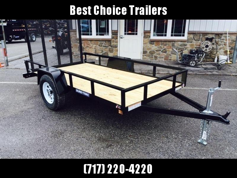 """2021 Sure-Trac 5x10' Utility Landscape Trailer 2990# GVW * 2X2"""" TUBE GATE C/M + FOLD FLAT * TOOLESS GATE REMOVAL * CHANNEL TONGUE * REAR BOARD RETAINER * HD FENDERS * ZINC JACK * RADIAL TIRES * POWDERCOATED"""