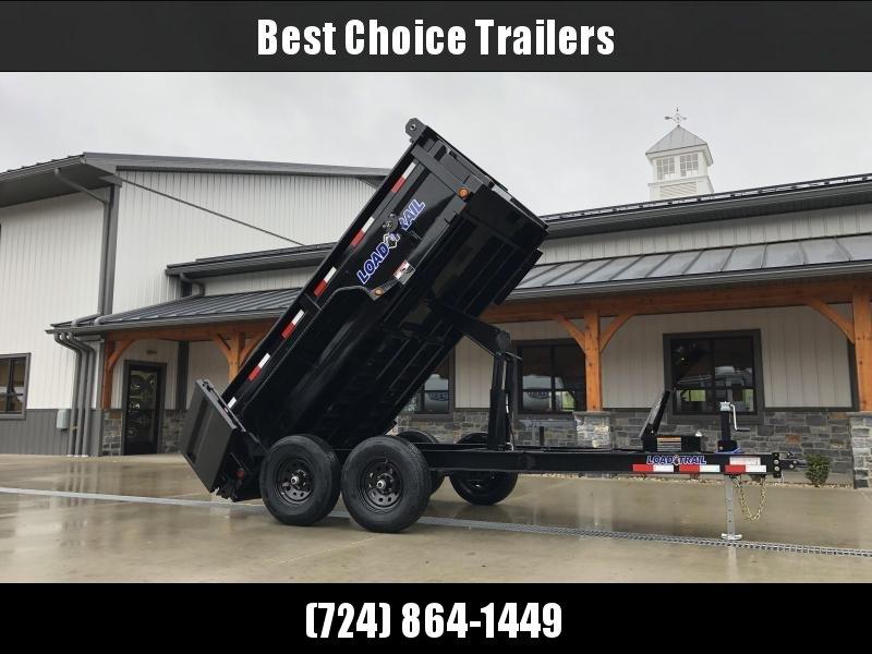 """2021 Load Trail 6x12' Dump Trailer 9990# GVW * 2' SIDES * 3-WAY GATE * I-BEAM FRAME * TARP KIT * SCISSOR HOIST * 16"""" 10-PLY RUBBER * 6"""" TUBE BED FRAME * 110V CHARGER * ADJUSTABLE COUPLER * 7K JACK * 10GA 2PC SIDES/FLOOR * INTEGRATED KEYWAY * PRIMER * CLEA"""