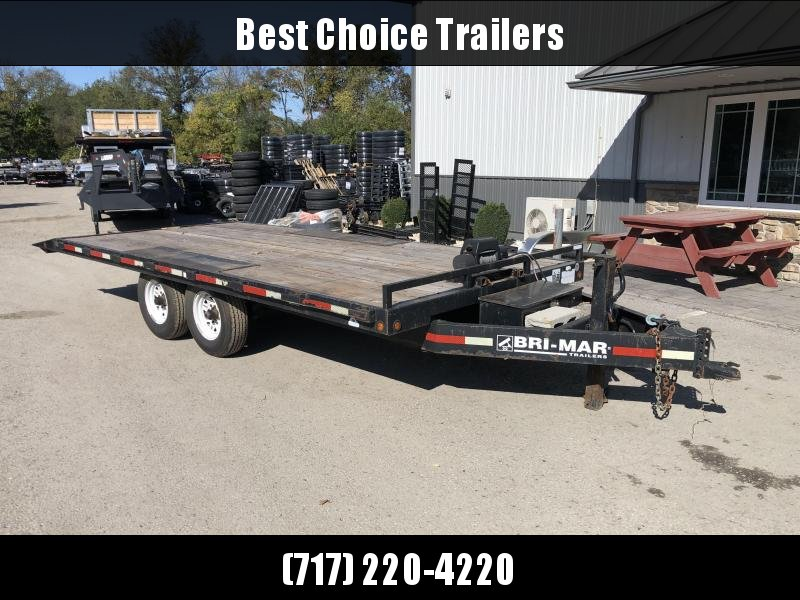 USED 102x20' Bri-Mar Power Tilt Deckover Trailer 14000# GVW * POWER * WINCH * DEXTER'S * REVERSE DOVETAIL