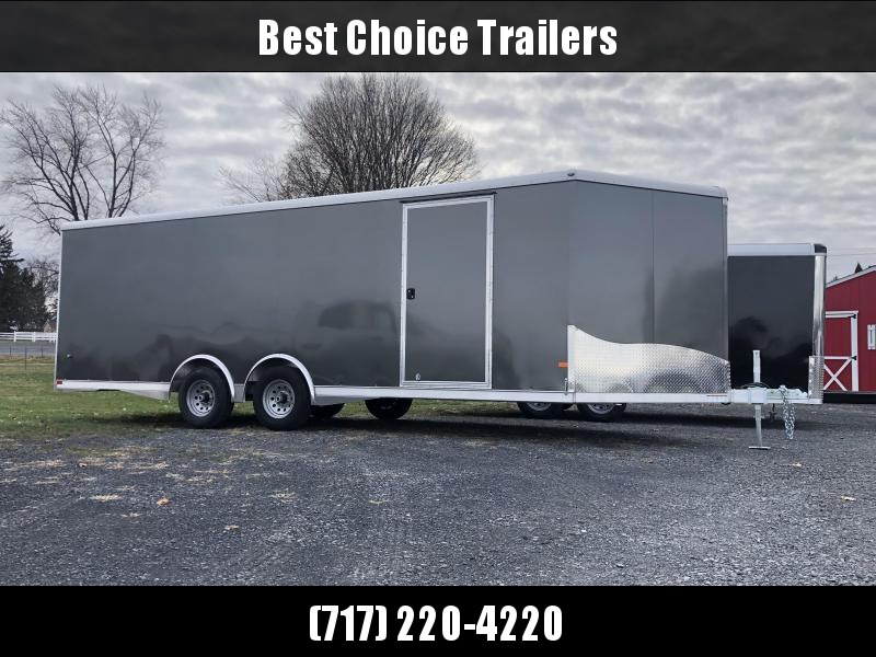 2020 NEO 8.5x22' NCBS Aluminum Enclosed Car Hauler Trailer 9990# GVW * ESCAPE DOOR * ALUMINUM WHEELS * 5200# AXLES * DEXTER TORSION * ROUND TOP * NXP RAMP * SPREAD AXLE * REAR SPOILER * ALUMINUM WHEELS * INTEGRATED FRAME