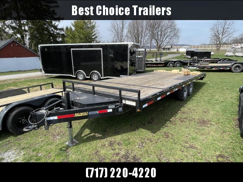 USED Belmont 102x24' Power Tilt Deckover Trailer 14000# GVW