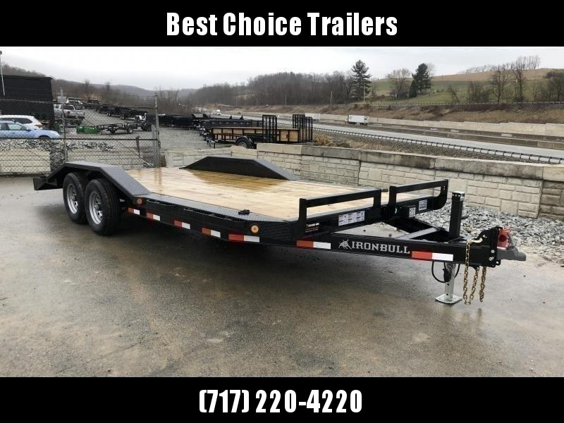 "USED 2019 Ironbull 102""x22' Buggy Hauler Car Trailer 9990# GVW * 102"" DECK * DRIVE OVER FENDERS * 16"" O.C. FLOOR * 6"" CHANNEL TONGUE/FRAME * CHANNEL C/M * RUBRAIL/STAKE POCKETS/PIPE SPOOLS/D-RINGS * ADJUSTABLE COUPLER * DROP LEG JACK * DEXTER'S"