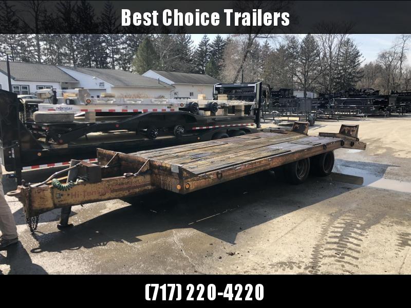 USED Eager Beaver 102x16+5' Flatbed Trailer 25544# GVW