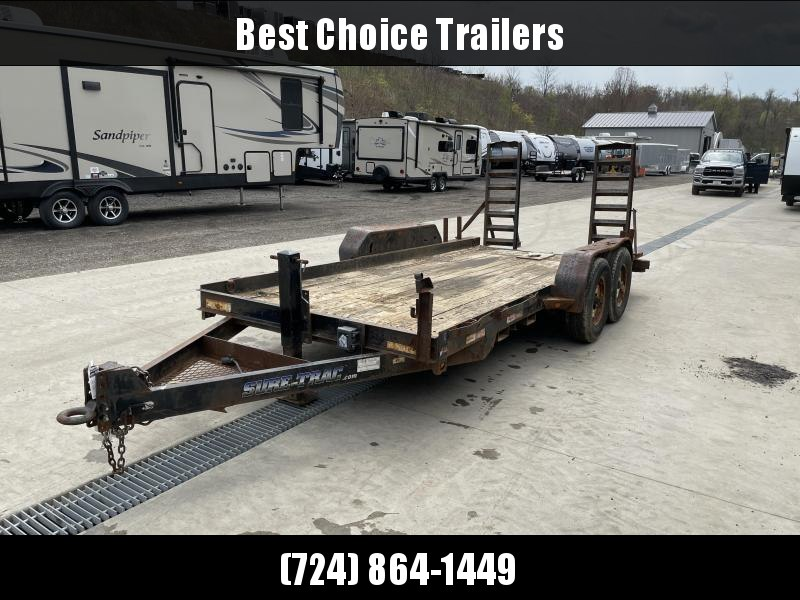 USED 2012 Sure Trac 7x16' Equipment Trailer 9900# GVW * AS-IS *