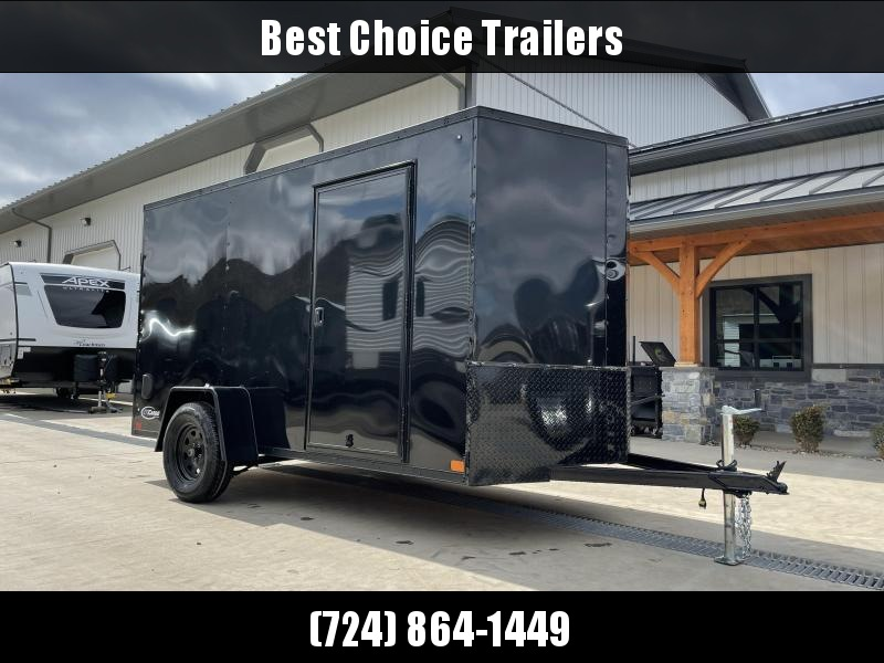 """2021 ITI Cargo 6x12' Enclosed Cargo Trailer 2990# GVW * CHARCOAL BLACKOUT PACKAGE * .030 SEMI-SCREWLESS * 1 PC ROOF * 3/8"""" WALLS * 3/4"""" FLOOR * 16"""" STONEGUARD * HIGH GLOSS PAINTED FRAME"""