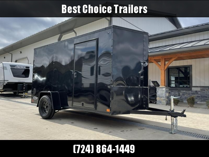"2021 ITI Cargo 6x12' Enclosed Cargo Trailer 2990# GVW * CHARCOAL BLACKOUT PACKAGE * .030 SEMI-SCREWLESS * 1 PC ROOF * 3/8"" WALLS * 3/4"" FLOOR * 16"" STONEGUARD * HIGH GLOSS PAINTED FRAME"