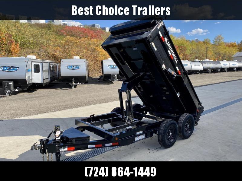 "2021 Ironbull 6x10' Dump Trailer 14000# GVW * TARP KIT * SCISSOR HOIST * STACKED I-BEAM FRAME * 6"" TUBE BEDFRAME * 2PC 10GA BED & WALLS W/ KEYWAY * COMBO GATE * UNDERBODY BED RUNNERS * DEXTER AXLES * SPARE MOUNT * 2-3-2 WARRANTY"