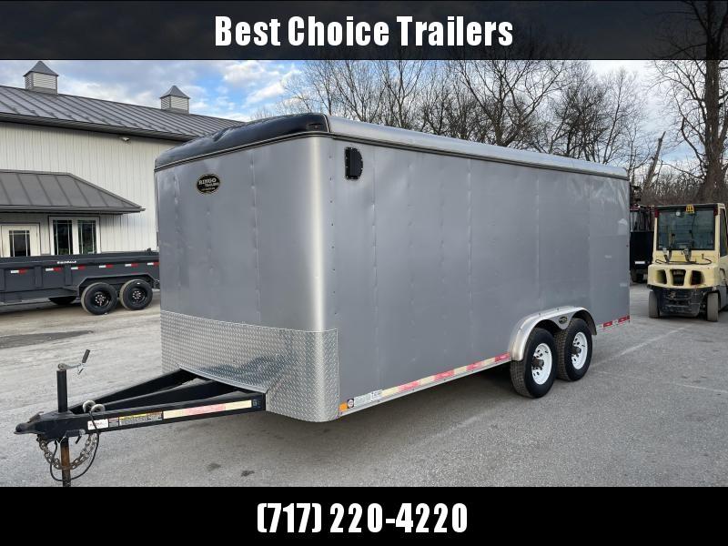 USED 2015 Ringo 8.5x18' Commercial Enclosed Cargo Trailer 9900lb GVW * SILVER * PLYWOOD * E-TRACK * TRIPLE TUBE