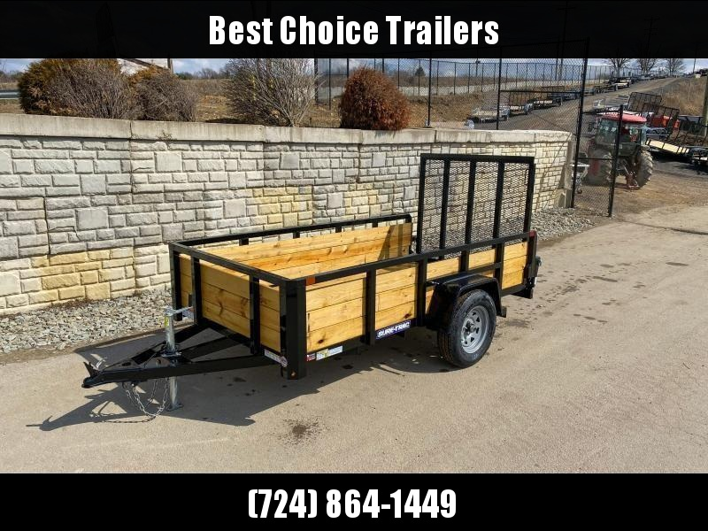 "2021 Sure-Trac 5x8' High Side Utility Landscape Trailer 2990# GVW * 24"" 3-BOARD HIGH SIDE * 2"" TUBE TOP RAIL * 2X2"" TUBE GATE C/M + SPRING ASSIST + FOLD FLAT * TOOLESS GATE REMOVAL * SPARE MOUNT * PROTECTED WIRING * SET BACK JACK * TRIPLE TUBE TONGUE * D-"