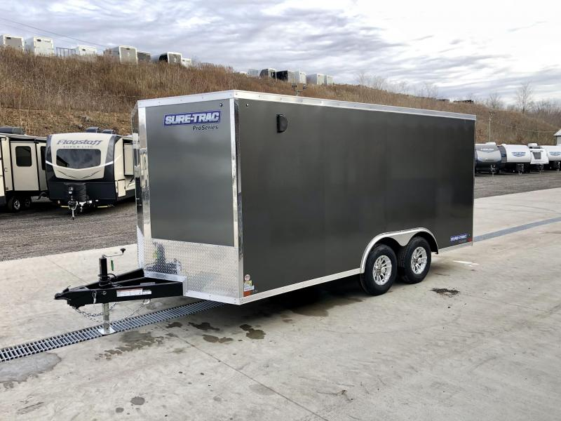 2021 Sure-Trac 8.5x16' Enclosed Cargo Trailer 9900# GVW * CHARCOAL * TORSION * 5200# AXLES * CONTRACTOR/LANDSCAPER TRAILER