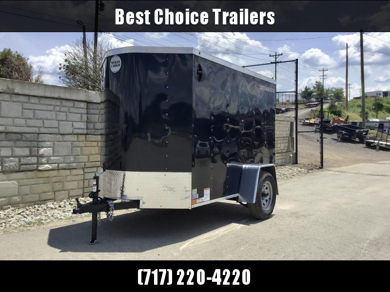 "2020 Wells Cargo 5X8' FastTrac Enclosed Cargo Trailer 2990# GVW * SILVER EXTERIOR * RAMP DOOR * V-NOSE * 1 PC ROOF * 16"" O.C. WALLS * BULLET LED'S"