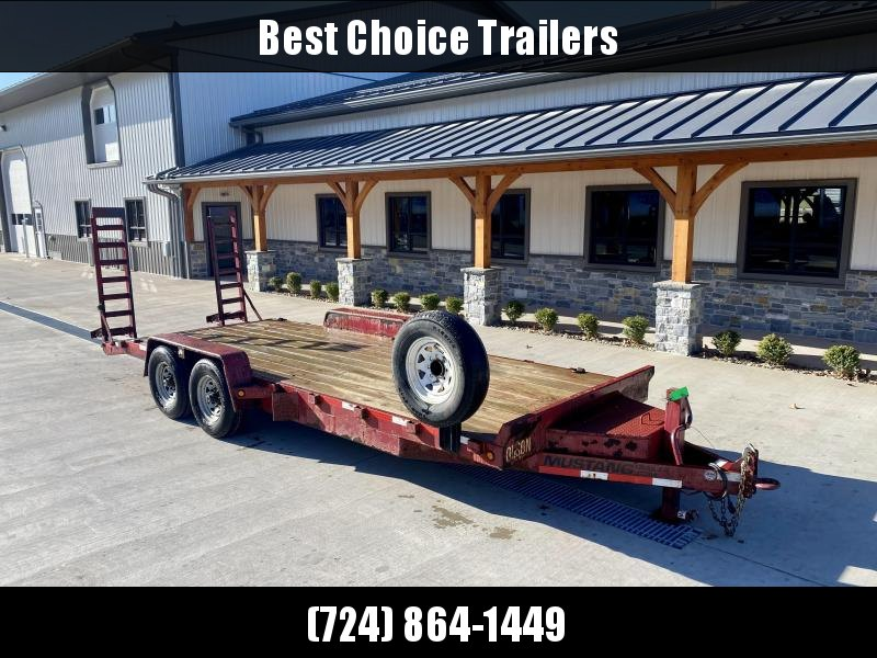 USED 2014 Mustang Trailers 7x20' Equipment Trailer 12000# GVW * STAND UP RAMPS * SPARE TIRE * TOOLBOX * ADJUSTABLE PINTLE COUPLER * 12K JACK * D-RINGS/STAKE POCKETS