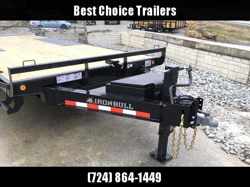 "2021 Ironbull 102x22' Deckover Power Tilt Trailer 14000# GVW * HYDRAULIC JACK * BLACKWOOD FLOOR * 14-PLY TIRES * DUAL PISTON * I-BEAM FRAME * RUBRAIL/STAKE POCKETS/PIPE SPOOLS/D-RINGS/BANJO EYES * 6"" TUBE BED FRAME * 4X4X1/4 WALL TUBE BED RUNNERS (12#/')"