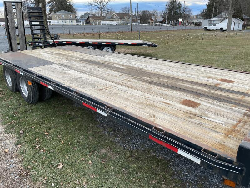 USED 2005 Quality 102x25' Tandem Dual Beavertail Flatbed Trailer 25000# GVW * INTEGRATED TOOLBOX * I-BEAM FRAME