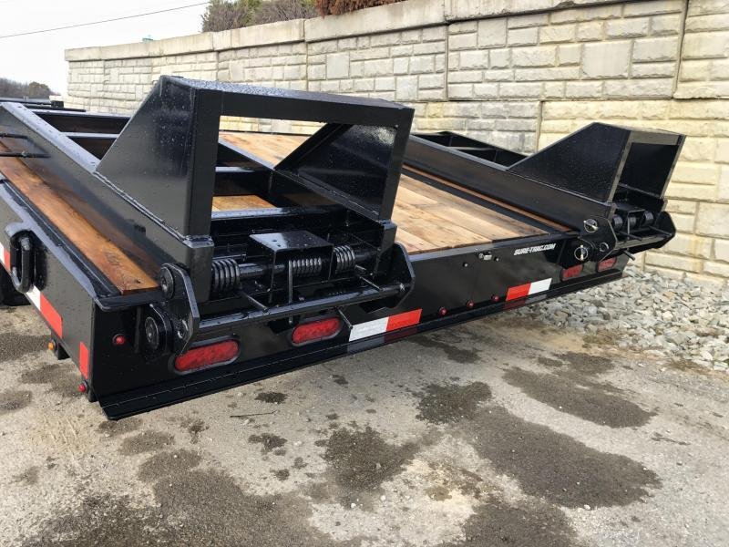 "2020 Sure Trac 102x25' Air Brake Beavertail Deckover Trailer 49000# GVW * PIERCED FRAME * 14"" I-BEAM FRAME * 215/17.5 LRH 16-PLY * 2"" OAK DECK * HUTCH 9700 SUSPENSION * DUAL 50K 2-SPEED JOST JACKS * LOCKABLE TOOLBOX * BI-DIRECTIONAL RAMPS * (12) 1"" D-RING"