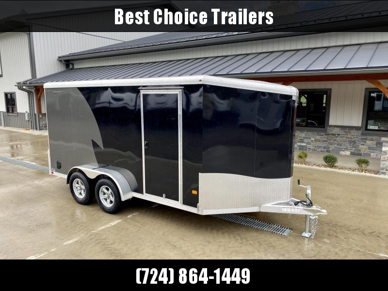 """2022 NEO Trailers 7X14' NAMR Aluminum Enclosed Motorcycle Trailer * BLACK+SILVER * VINYL WALLS * +6"""" HEIGHT * ALUMINUM WHEELS * TIE DOWN SYSTEM"""