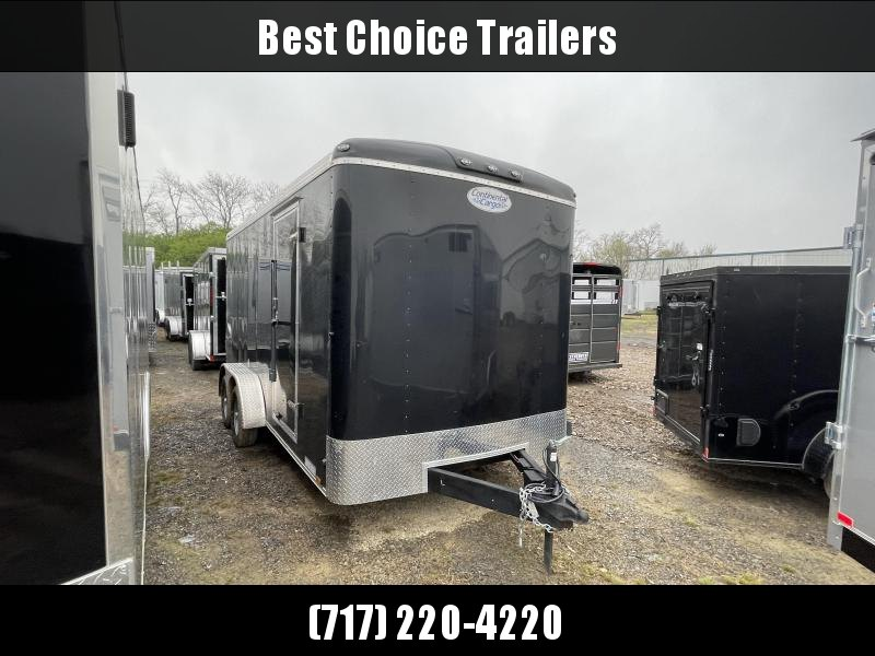 "USED 2020 Continental Cargo 7x16' Enclosed Cargo Trailer 7000# GVW * 6"" FRAME * PLYWOOD WALLS & FLOOR * 7' HEIGHT UPG UTV * ROUND TOP ROOF * SEMI SCREWLESS EXTERIOR"