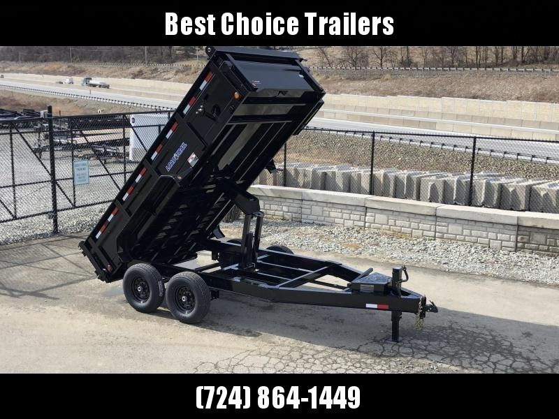 "2021 Load Trail 7x14' Dump Trailer 14000# GVW * 12K JACK * 3-WAY GATE * 8"" I-BEAM FRAME * TARP KIT * SCISSOR HOIST * 6"" TUBE BED FRAME * 110V CHARGER * ADJUSTABLE COUPLER * 10GA 2PC SIDES/FLOOR * INTEGRATED KEYWAY * POWDER PRIMER * DEXTER'S"