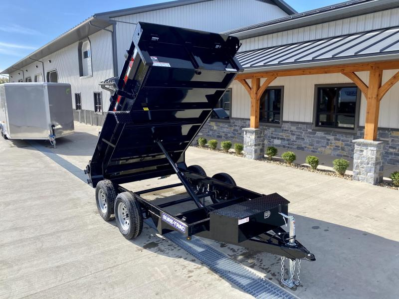 2021 Sure-Trac 5x10' Tandem Axle Dump Trailer 7000# GVW * BARN DOORS * INTEGRATED KEYWAY * SPARE MOUNT * TARP PREP * D-RINGS * DIAMOND PLATE FENDERS * POWER UP/ DOWN * TRIPLE TUBE TONGUE * BULLET LED'S * RADIALS * POWDERCOATED * SEALED HARNESS