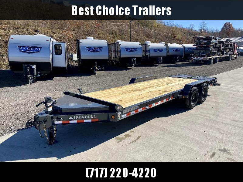 "2021 Iron Bull 7x22' Equipment Trailer 14000# GVW * FULL WIDTH RAMPS * 8"" I-BEAM FRAME * OVERSIZE TOOLBOX * DEXTER AXLES * HD COUPLER"