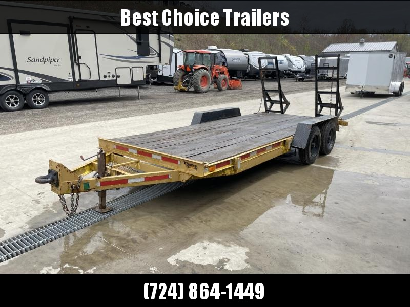 USED Equipment Trailer w/ Stand Up Ramps 9990# GVW