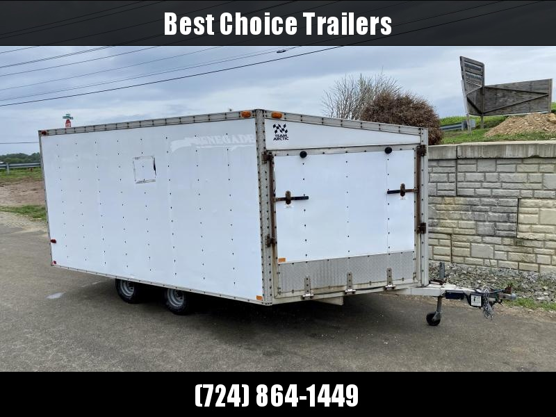 USED Rance Aluminum Trailers 8x12' Snowmobile Trailer 4400# GVW * SPARE TIRE