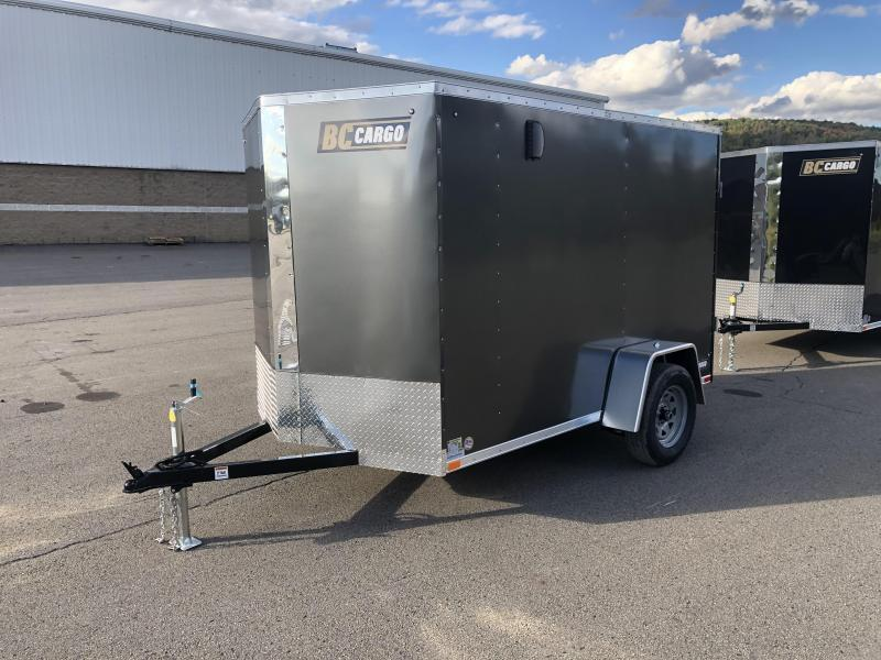 "2021 ITI Cargo 6x10' Enclosed Cargo Trailer 2990# GVW * CHARCOAL EXTERIOR * .030 SEMI-SCREWLESS * 1 PC ROOF * 3/8"" WALLS * 3/4"" FLOOR * 16"" STONEGUARD * HIGH GLOSS PAINTED FRAME"