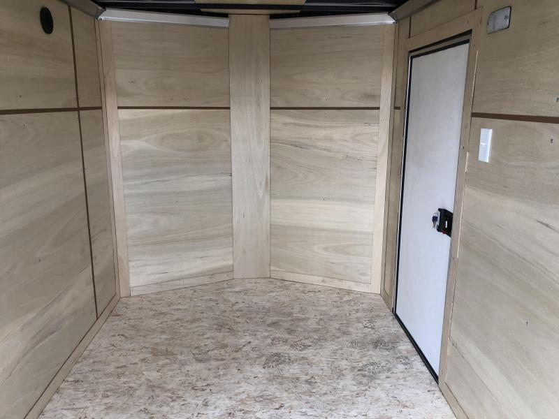 """2021 ITI Cargo 6x10' Enclosed Cargo Trailer 2990# GVW * CHARCOAL EXTERIOR * .030 SEMI-SCREWLESS * 1 PC ROOF * 3/8"""" WALLS * 3/4"""" FLOOR * 16"""" STONEGUARD * HIGH GLOSS PAINTED FRAME"""