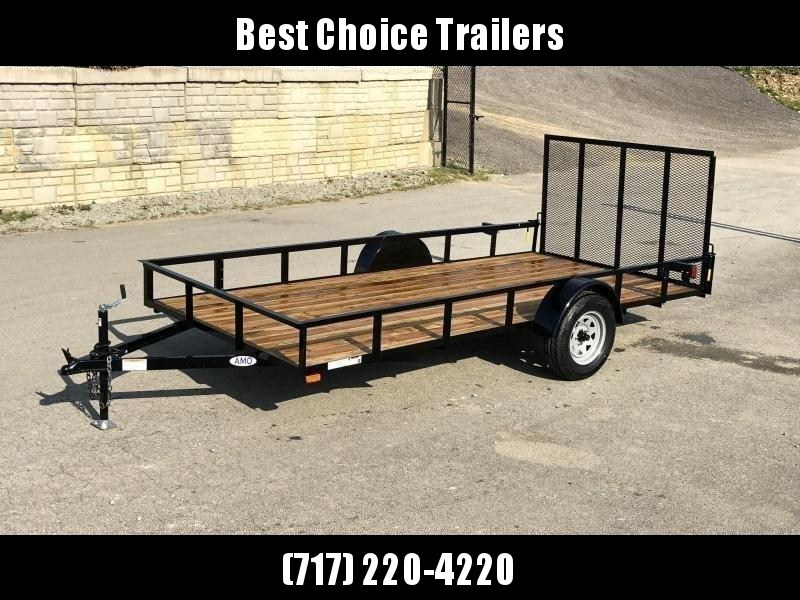 """2022 AMO 78x14' Utility Landscape Trailer 2990# GVW * 4' GATE * TOOLESS GATE REMOVAL * 3500# AXLE * 15"""" RADIAL TIRES"""