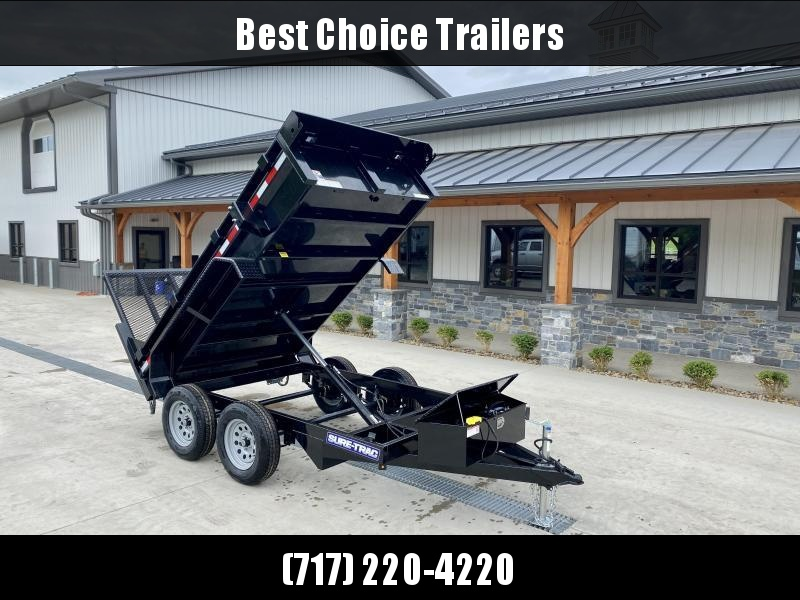2021 Sure-Trac 5x10' Tandem Axle Dump Trailer 7000# GVW * LANDSCAPE GATE * INTEGRATED KEYWAY * SPARE MOUNT * TARP PREP * D-RINGS * DIAMOND PLATE FENDERS * POWER UP/ DOWN * TRIPLE TUBE TONGUE * BULLET LED'S * RADIALS * POWDERCOATED * SEALED HARNESS
