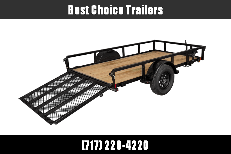 """2021 H&H 6.5x12' Utility Landscape Trailer 2990# GVW * 2"""" TUBE TOP RAIL * 4"""" CHANNEL TONGUE * 2X2"""" TUBE GATE C/M + SPRING ASSIST + FOLD FLAT * SPARE MOUNT * PROTECTED WIRING * SET BACK JACK * STAKE POCKETS * BULLET"""