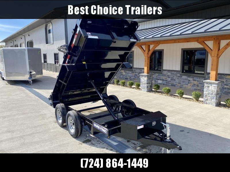 2021 Sure-Trac 5x10' Tandem Axle Dump Trailer 7000# GVW * ADJUSTABLE COUPLER * COMBO GATE * BARN DOORS * INTEGRATED KEYWAY * SPARE MOUNT * TARP PREP * D-RINGS * DIAMOND PLATE FENDERS * POWER UP/ DOWN * TRIPLE TUBE TONGUE * BULLET LED'S * RADIALS * POWDERC