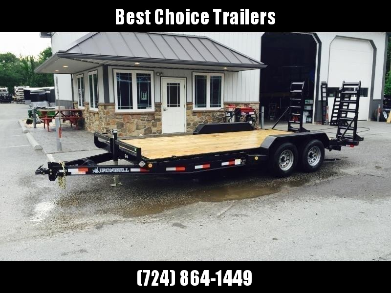 2021 Ironbull 7x16' Lowboy Equipment Trailer 9990# GVW STAND UP RAMPS